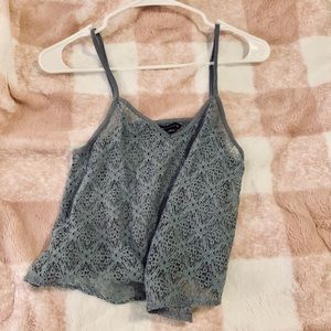 AE Outfitters Small Grey Lace top